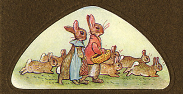Bunnies in closeup. Tale of the Flopsy Bunnies (first ed.).