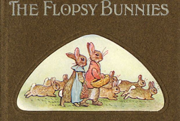 Cover detail; The Tale of the Flopsy Bunnies (first ed.)