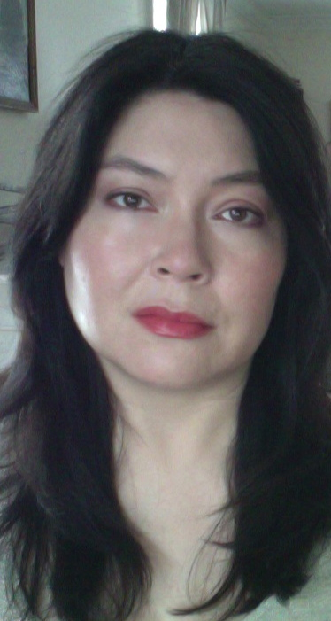 The look with just the Bourjois gloss stick; no underlying pink-lipstick stain.